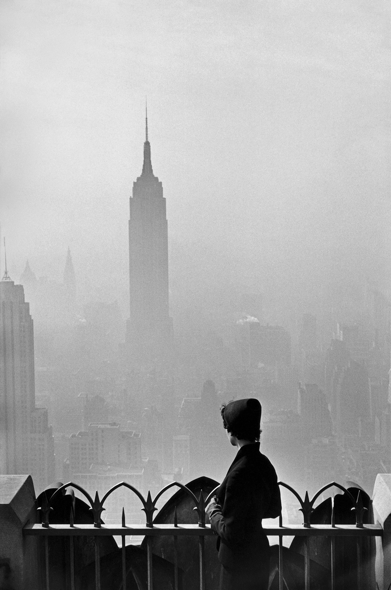 "Elliott Erwitt ""USA. New York City. 1955. Empire State Building."""
