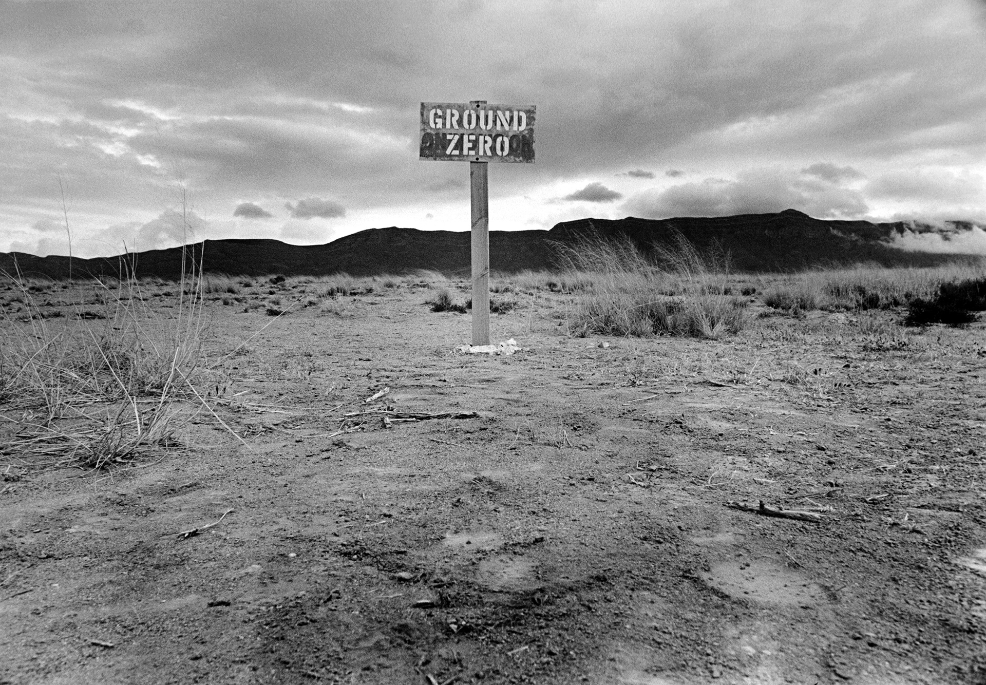 "Elliott Erwitt ""USA. Alamogordo, New Mexico. 1965. Epicenter of the first atomic bomb."""